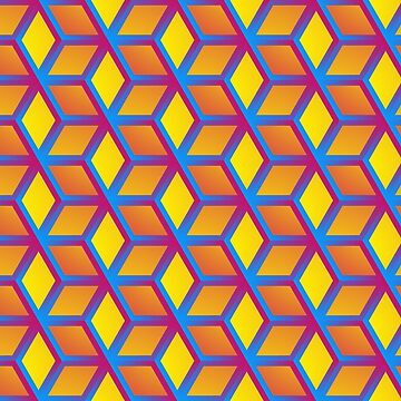 Colorful Abstract hexagonal background futuristic geometric seamless luxury pattern by Darcraft28