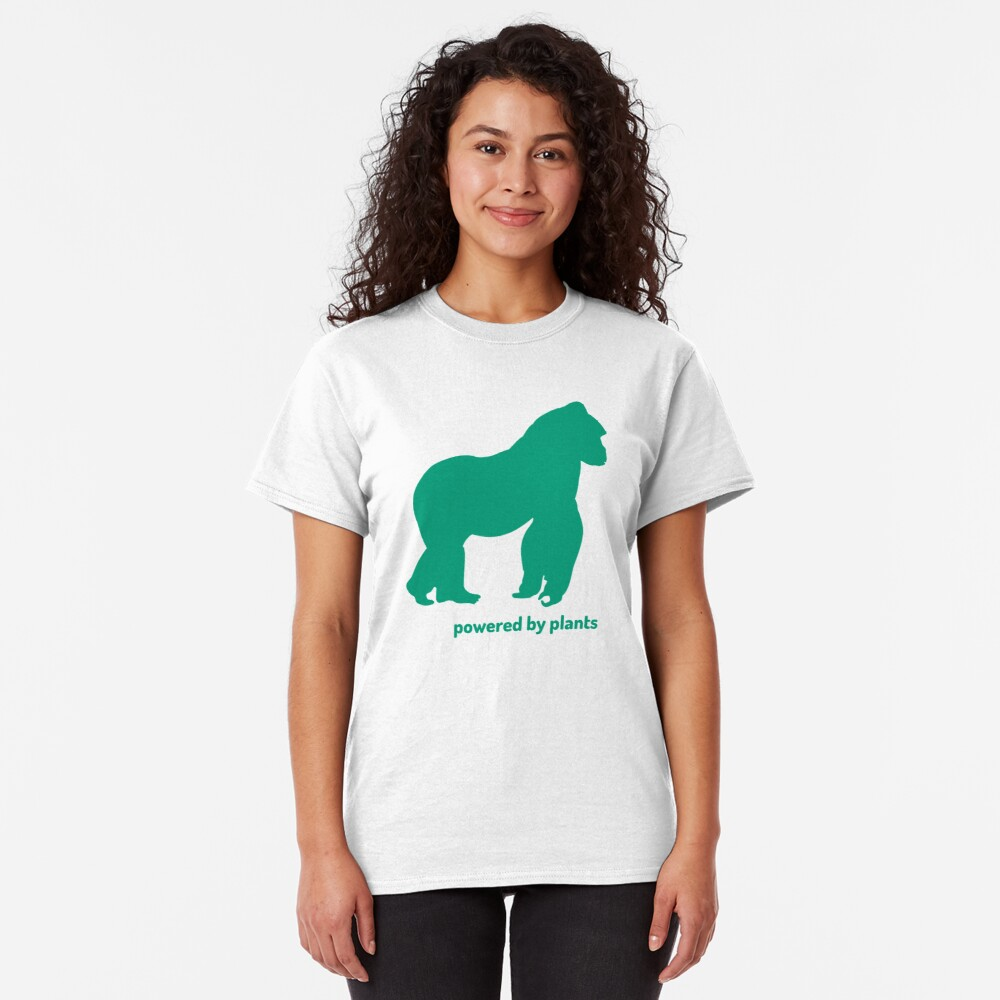 gorilla powered by plants Classic T-Shirt