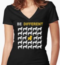 Bichon Frise Lovers - Be Different - Sweet Gift For Passionate Dog Lovers  Women's Fitted V-Neck T-Shirt