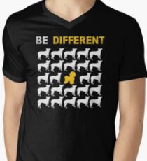 Bichon Frise Lovers - Be Different - Sweet Gift For Passionate Dog Lovers  Men's V-Neck T-Shirt