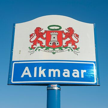 Alkmaar Noord Holland The Netherlands.  Alkmaar city name sign. by stuwdamdorp