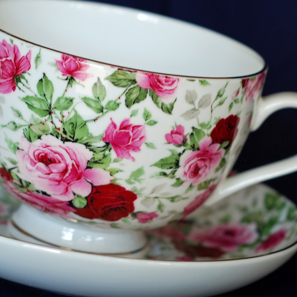 Chintz tea cup by Louise  Bishop