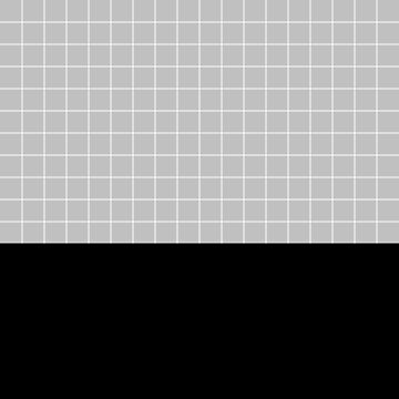 White Grid On Silver Gray Above Black by rewstudio