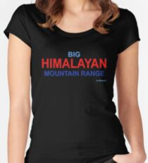 The vastness of the Himalayas on a T-shirt Women's Fitted Scoop T-Shirt