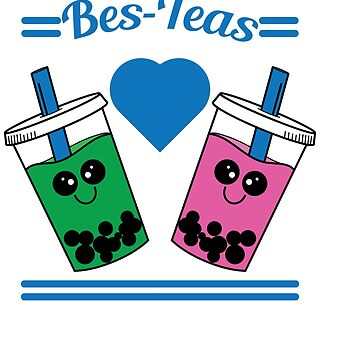 Show to the world that you and your bestfriend are tea lovers with this cute and adorable tee design by Customdesign200
