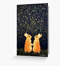 looking for shooting stars (2008) Rabbit / Bunny Art Greeting Card