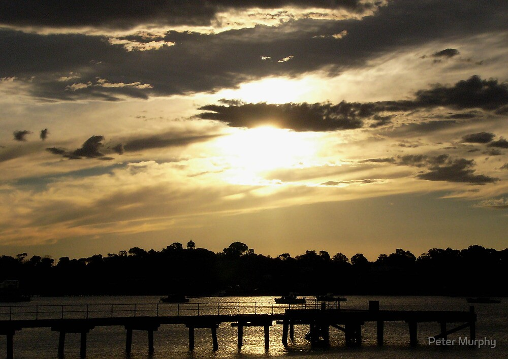 Sunset Port Augusta Harbour - South Australia by Peter Murphy