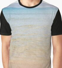 Crystal clear water on sandy beach Graphic T-Shirt