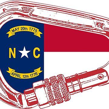 North Carolina Flag Climbing Carabiner by esskay