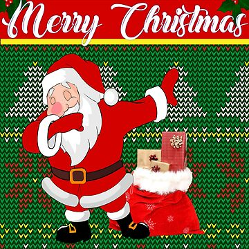 Dabbing Santa Christmas design Green by Bullish-Bear