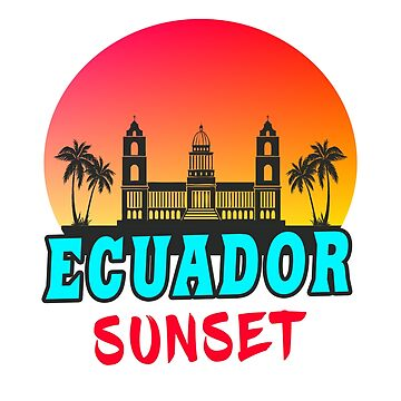Ecuador Sunset / Gift South America by Rocky2018