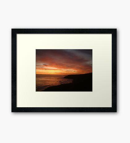 Red Sea UK Scarborough E coast Framed Print