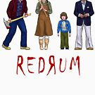 The Torrance's and Hallorann Inspired Character Art - REDRUM - THE SHINING 1980 by Marten Go