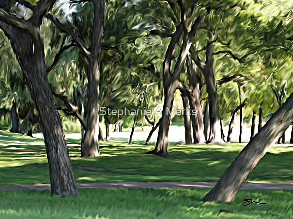 Trees #1 by Stephanie A Marks