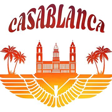 Casablanca Palace with palm trees / Morocco gift by Rocky2018