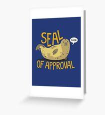 Tarjeta de felicitación Sello de aprobación