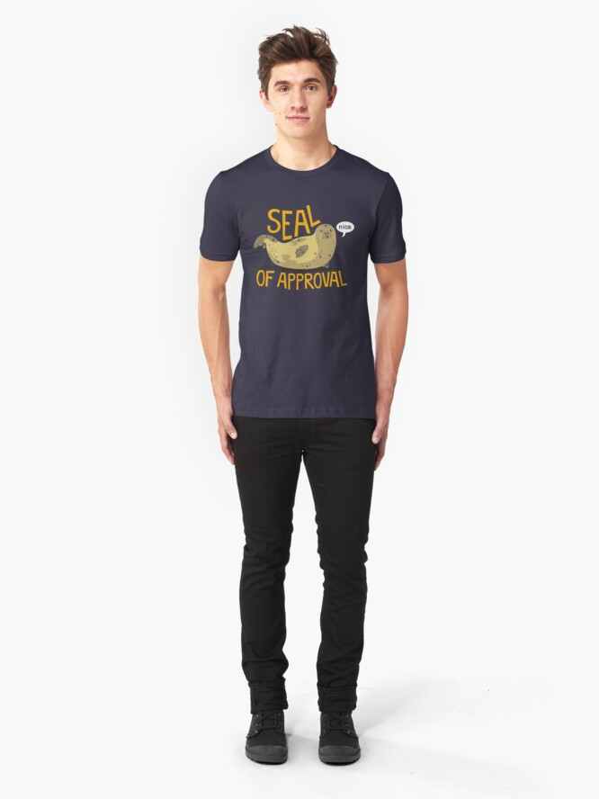 Alternate view of Seal of Approval Slim Fit T-Shirt