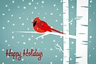 Bird Holiday Card by Jordi  Sabate