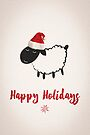 Sheep Holiday Card by Jordi  Sabate