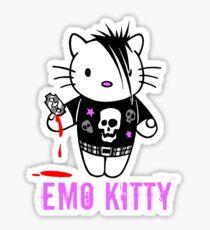 Pegatina Emo Kitty - Parodia de Hello Kitty