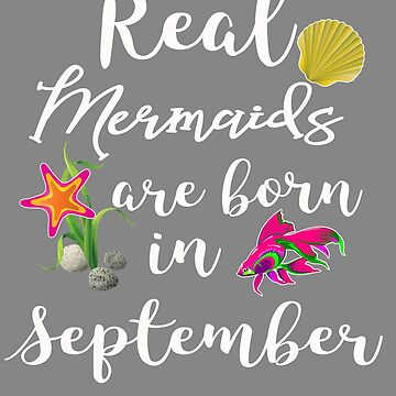 Real mermaids are born in  September by LGamble12345