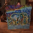 "Here is my ""Elephants In The Fire Glow scarf"" by little1sandra"