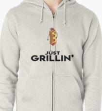 Just Grillin' Zipped Hoodie