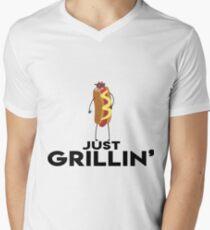 Just Grillin' Men's V-Neck T-Shirt
