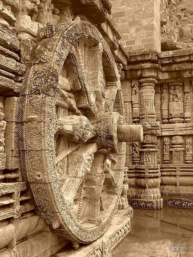 Chakra, Konark temple by cyclops