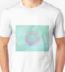 Purple And Pink Spirograph Contemporary Print Unisex T-Shirt
