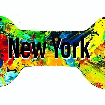 New York dog bone by barryknauff