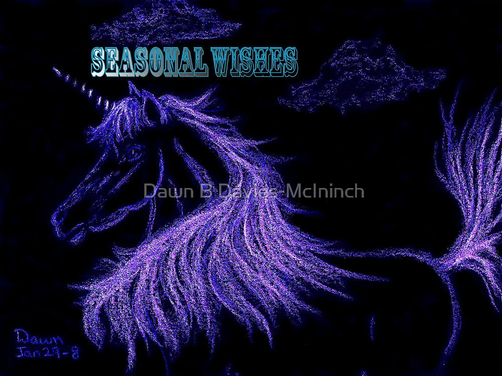 Unicorndreams of Lavender by Dawn B Davies-McIninch