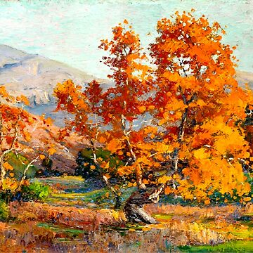 Autumn in Santa Ana Canyon, fine art painting by virginia50