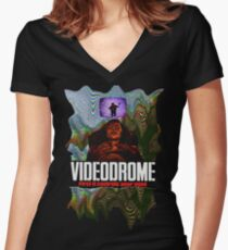 Videodrome Women's Fitted V-Neck T-Shirt