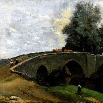 Jean-Baptiste-Camille Corot The Old Bridge by pdgraphics