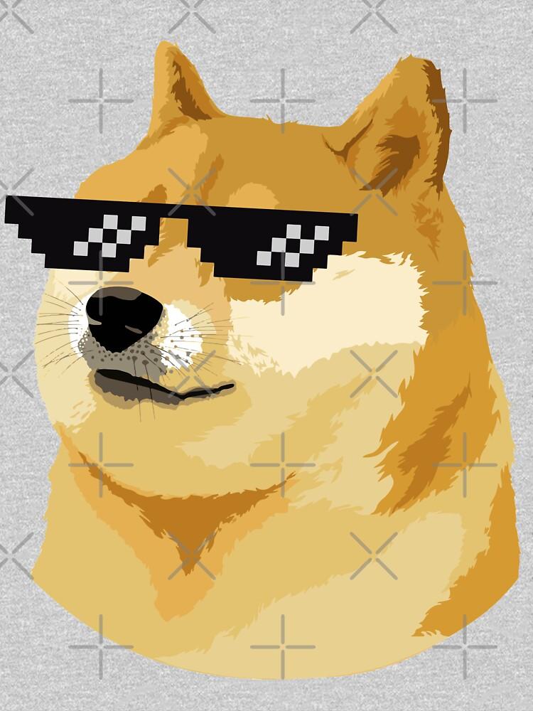 Doge Thug Life with sunglasses meme dog style Kekistan Shiba Inu #DogRight doggo by iresist