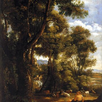 John Constable Landscape with Goatherd and Goats by pdgraphics