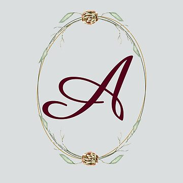 Letter A - autumn forest uppercase Alphabet, Monogram, Watercolor  by ArtOlB