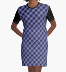 Vicky / Gingham Plaids - Blaubeere T-Shirt Kleid