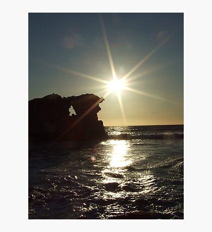 Slowly setting - Two Rocks, Western Australia Photographic Print
