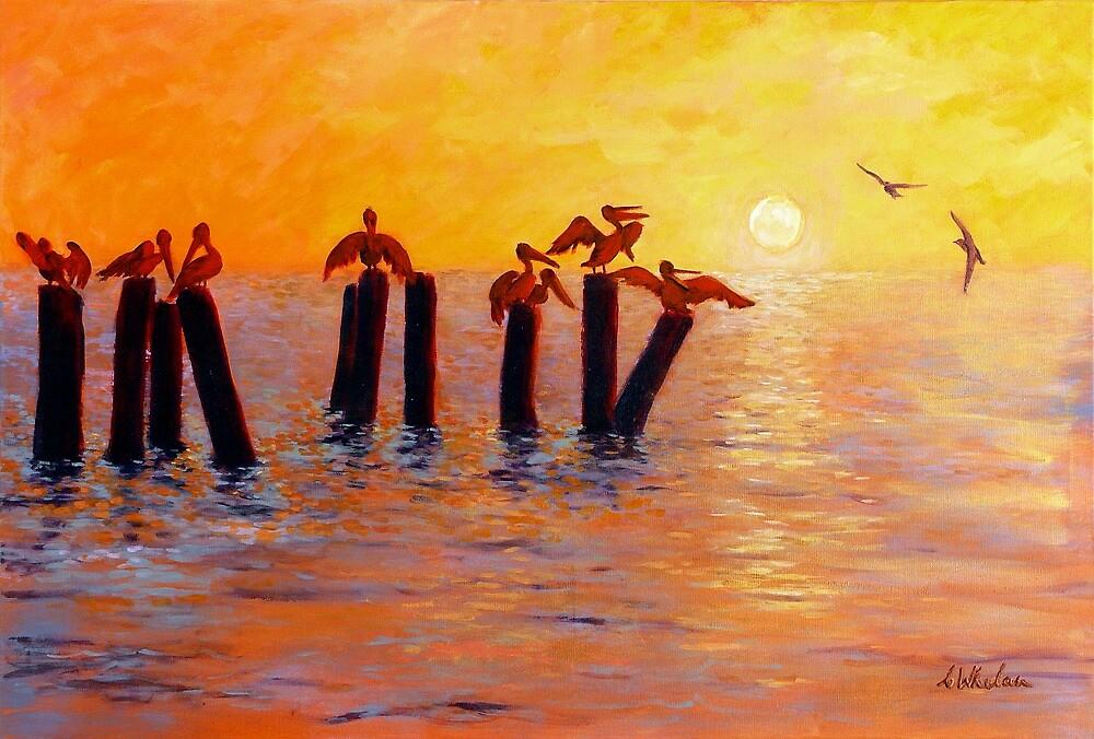 Pelican Perch by Carla Whelan
