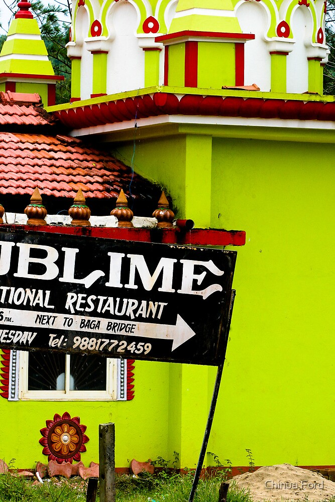 Lime Green - Baga Beach Temple by Chinua Ford