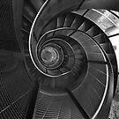 Spiral Staircase Inside Stadtturm, Innsbruck, Austria by Kent Nickell