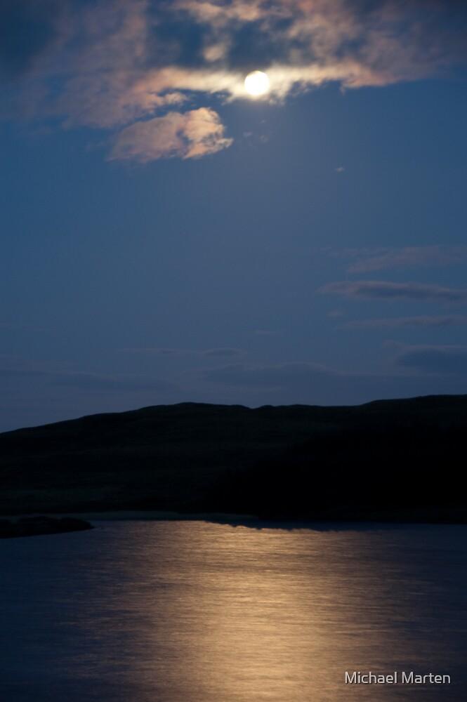 Moonlight on water, Loch Assapol, Isle of Mull, Scotland by Michael Marten