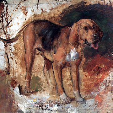 William Holman Hunt Study of a Bloodhound by pdgraphics