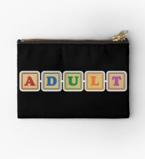 All Grown Up Letter Blocks Studio Pouch