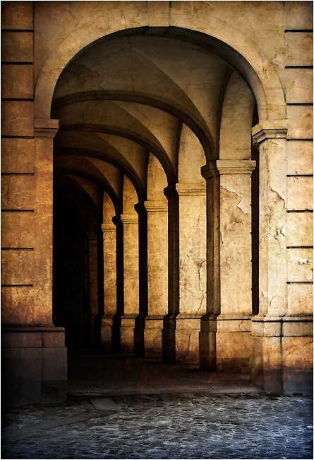 Hallway at the Royal Stables by Dennis Payall