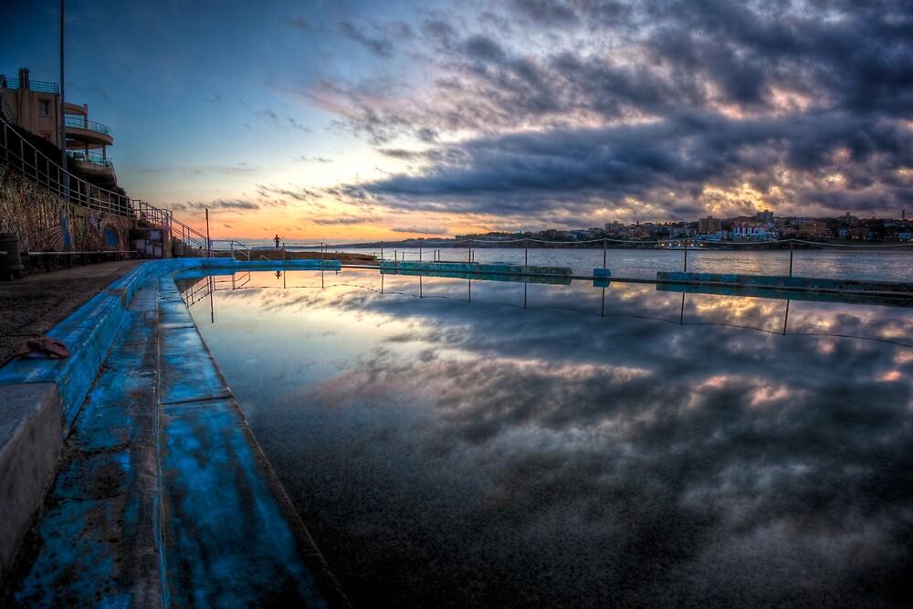 Bondi Sunset - Pool of Glass by bondiphoto