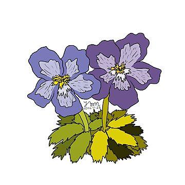 Violets for Sappho - Sapphic Floral Emblem by hillyhale