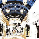 A Shopping Promenade by John Schneider